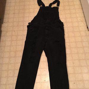 Black Overalls Rude Destroyed Size 30/10
